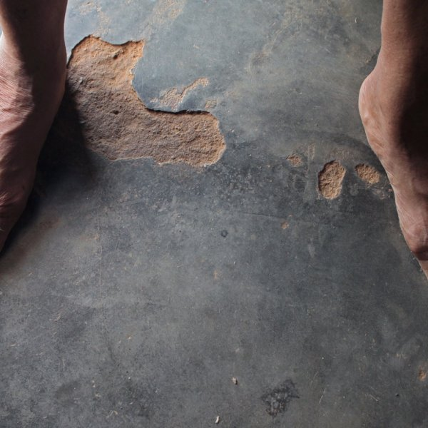 """""""Los pies que faltan"""" de Javier Codesal, 2010 (fotograma)"""