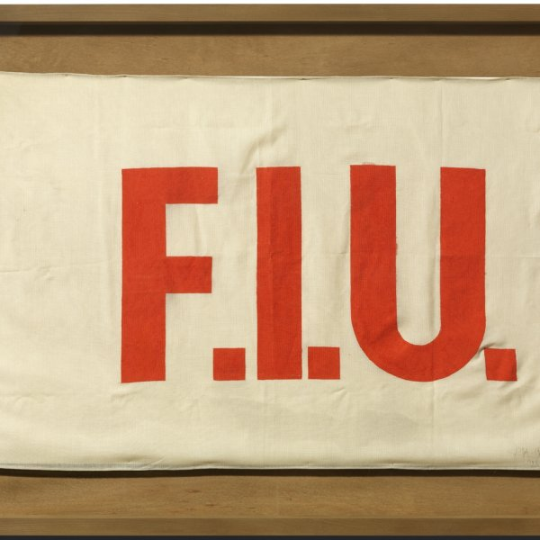 "Joseph Beuys ""F.I.U. Flag"", 1985"