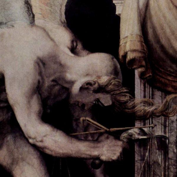 "Francesco Salviati. ""Kairos"", detalle del fresco en Palazzo Sacchetti"