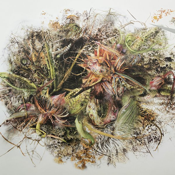 Rohini Devasher 'Genetic Drift: Symbiont3 - Serpentes Parthenocissus' (2018)
