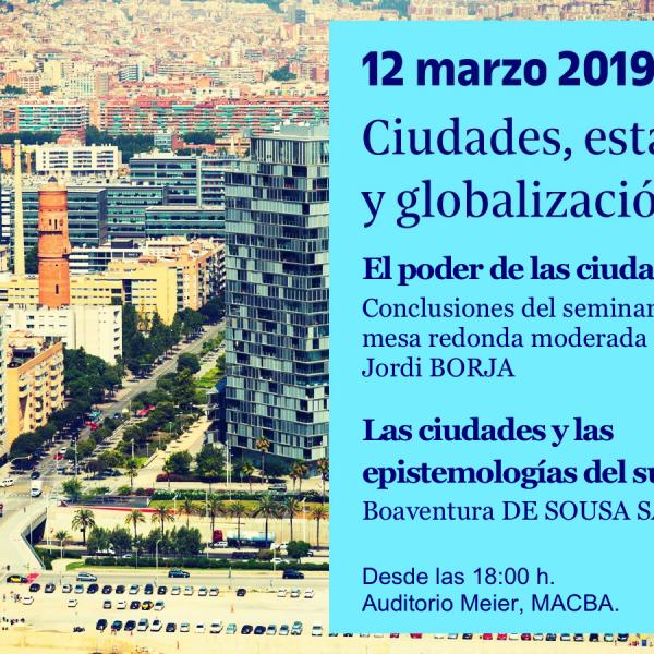 """Seminari """"Ciutats, estat i globalització"""""""