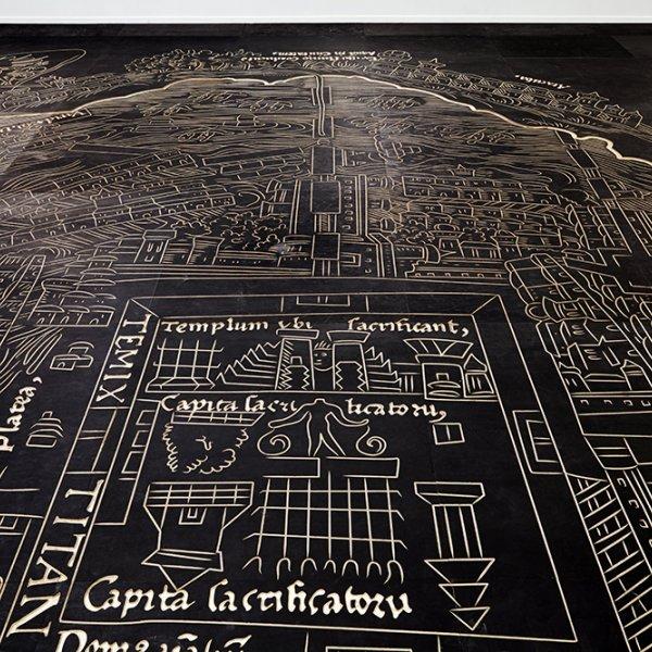 Mariana Castillo Deball, 'Nuremberg Map of Tenochtitlan' (2013)