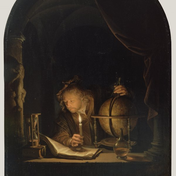 "Gerrit Dou, ""Astronomer by Candlelight"" (c. 1665) Courtesy of the Getty Museum's Open Content Program"