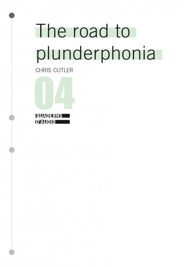 The Road to Plunderphonia