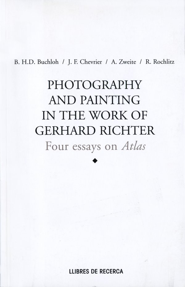 Photography and Painting in the Work of Gerhard Richter, 1999