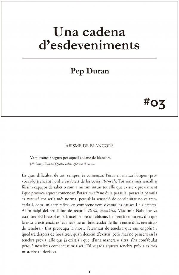 #03 Pep Duran. A Chain of Events