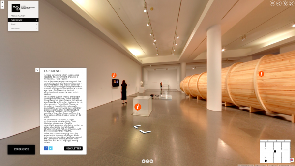 "virtual 360º visit of the ""MACBA Collection 31"" exhibition"