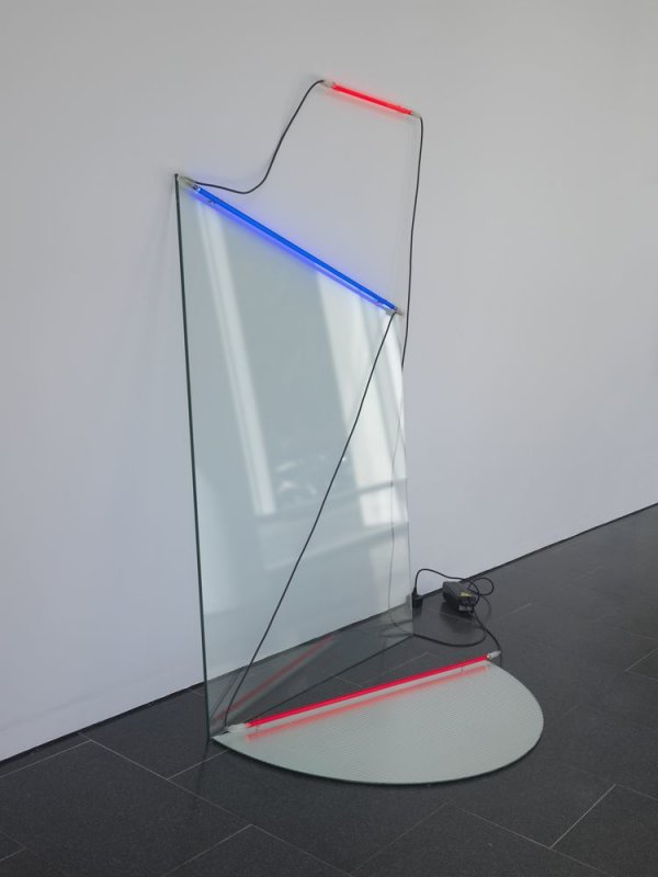 Neon with Cut Glass