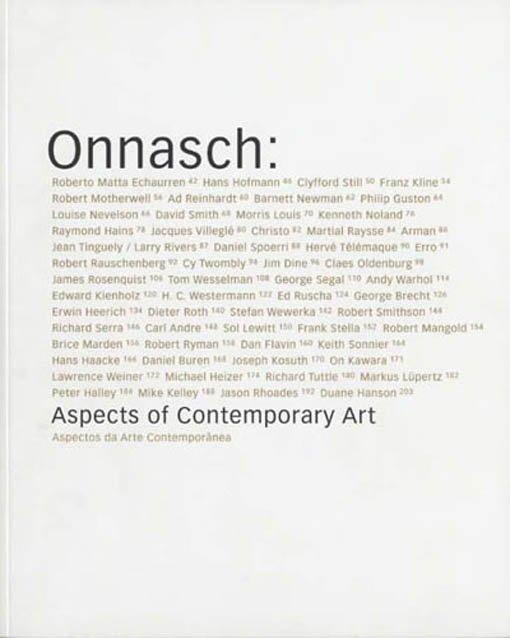 Onnasch. Aspects of contemporary art