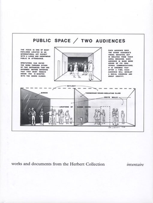 Public Space / Two Audiences. Works and Documents from the Herbert Collection. Inventaire