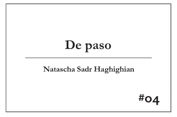 #04 Natascha Sadr Haghighian. De paso