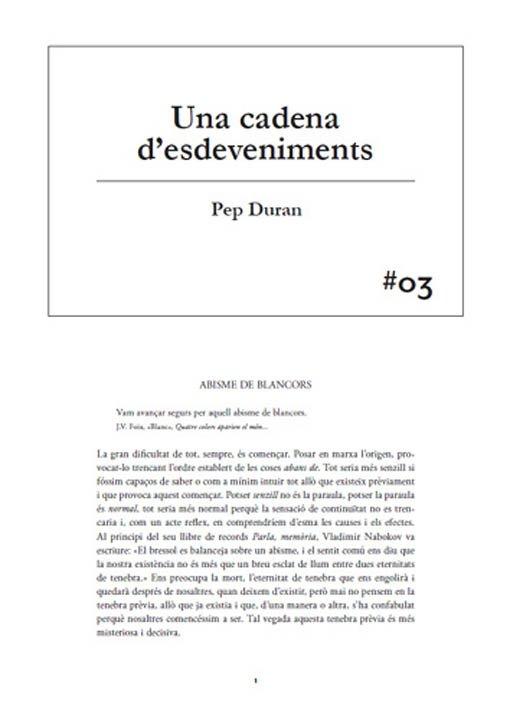 #03 Pep Duran. Una cadena d'esdeveniments
