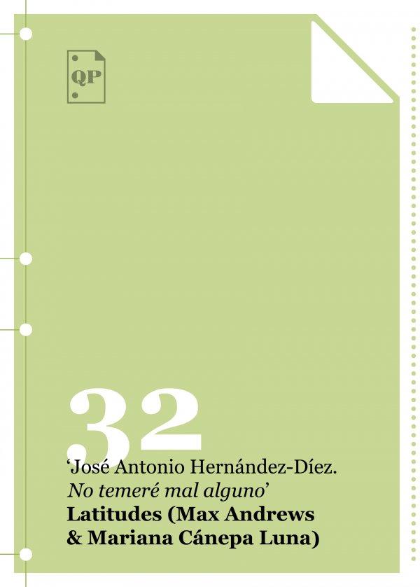 """José Antonio Hernández-Díez. """"I will fear no evil"""""""