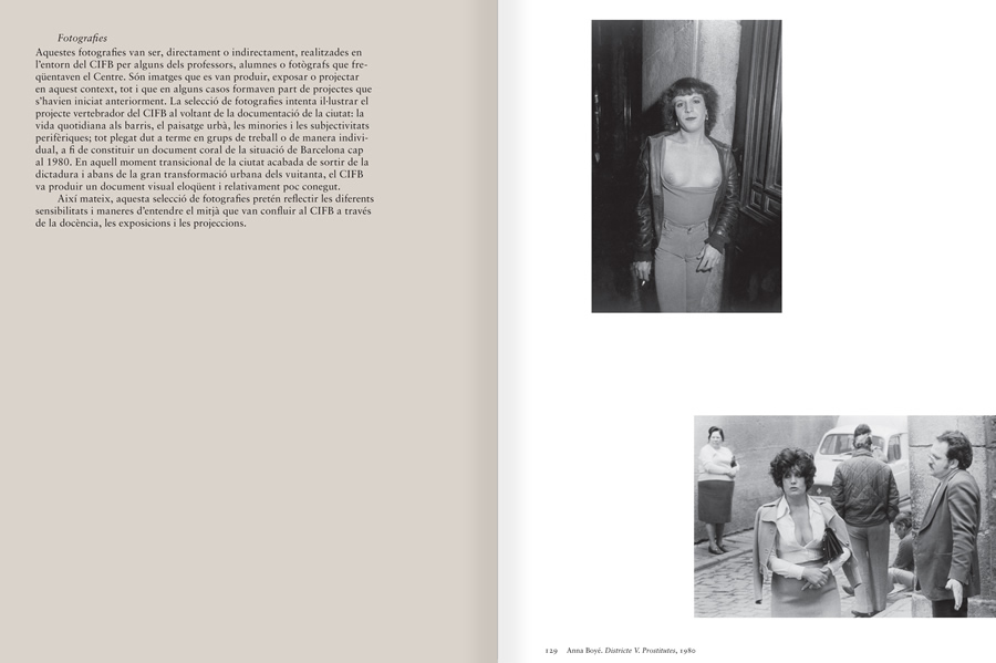 "Selection from the catalogue ""Centre Internacional de Fotografia Barcelona (1978-1983) "", pages 138 and 139"