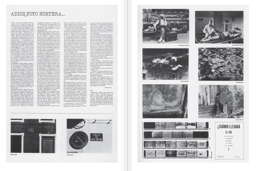 "Selection from the catalogue ""Centre Internacional de Fotografia Barcelona (1978-1983) "", pages 40 and 41"
