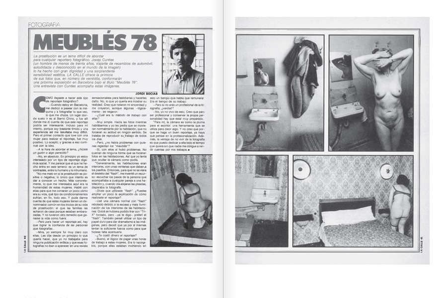 "Selection from the catalogue ""Centre Internacional de Fotografia Barcelona (1978-1983) "", pages 60 and 61"