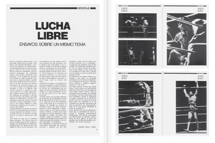 """Selecció del catàleg """"Centre Internacional de Fotografia Barcelona (1978-1983) """", pàgines 92 i 93"""