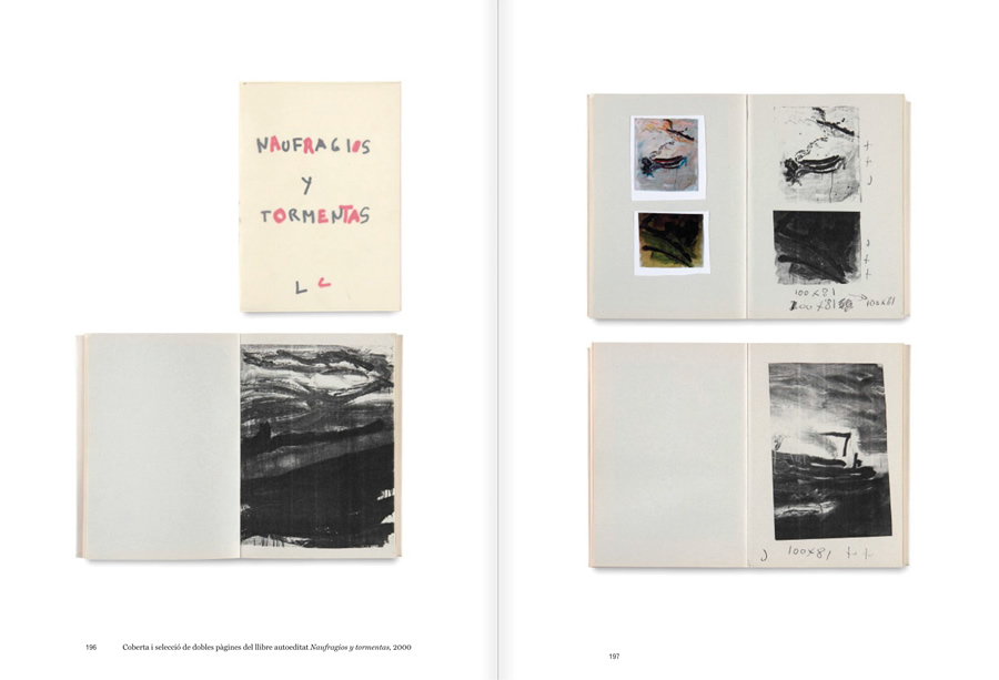 """Selection from the catalogue """"Luis Claramunt. El viatge vertical"""", pages 196 and 197"""