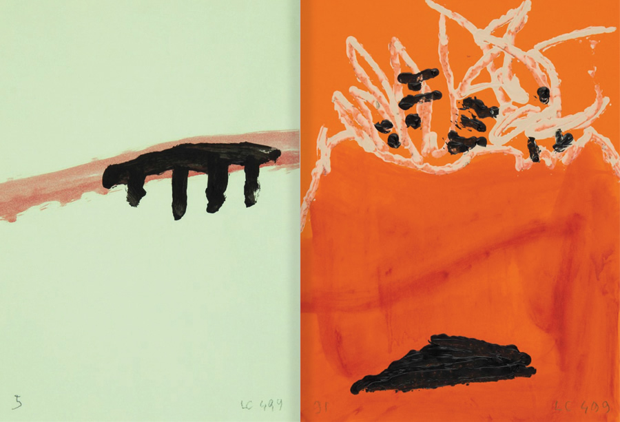 """Selection from the catalogue """"Luis Claramunt. El viatge vertical"""", pages 54 and 55"""