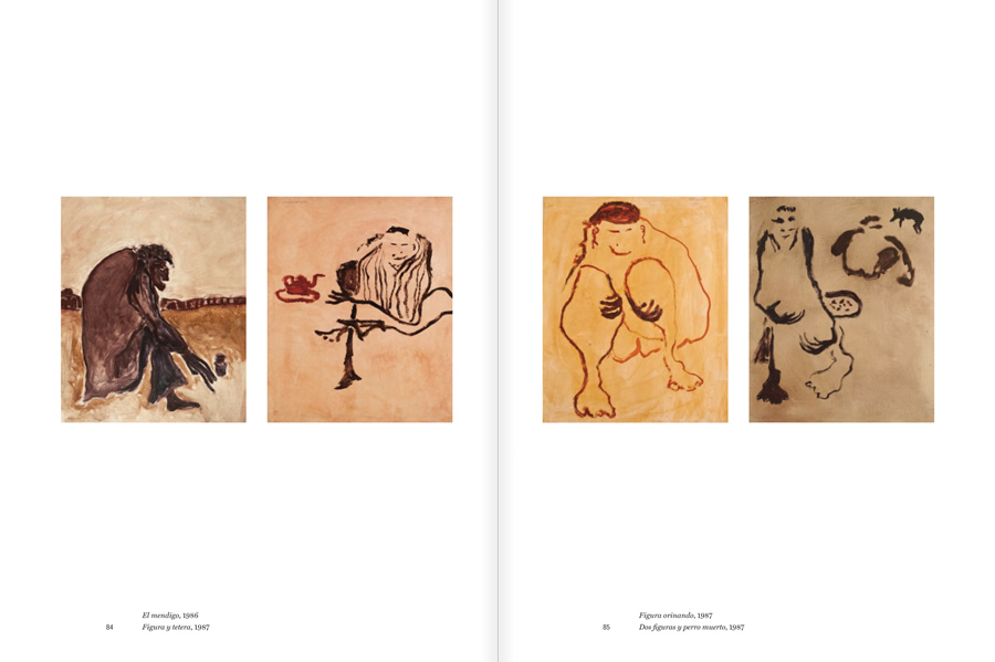 """Selection from the catalogue """"Luis Claramunt. El viatge vertical"""", pages 84 and 85"""