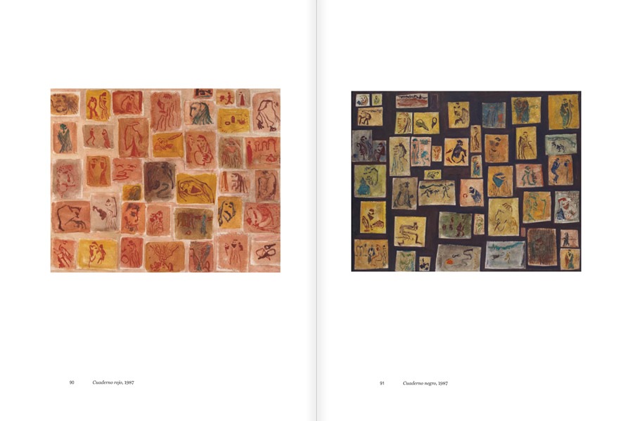 """Selection from the catalogue """"Luis Claramunt. El viatge vertical"""", pages 90 and 91"""