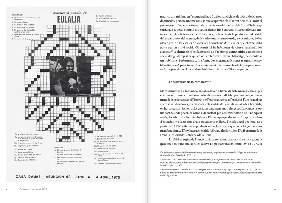 "Selection from the catalogue ""Eulàlia Grau. Mai no he pintat àngels daurats"", pages 20 and 21"