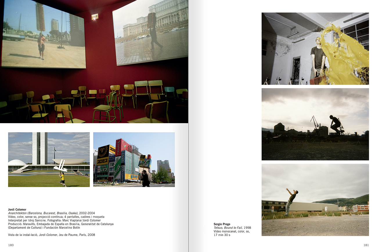 Selection from the catalogue 'Relational Objects. MACBA Collection 2002-07', pages 180 and 181