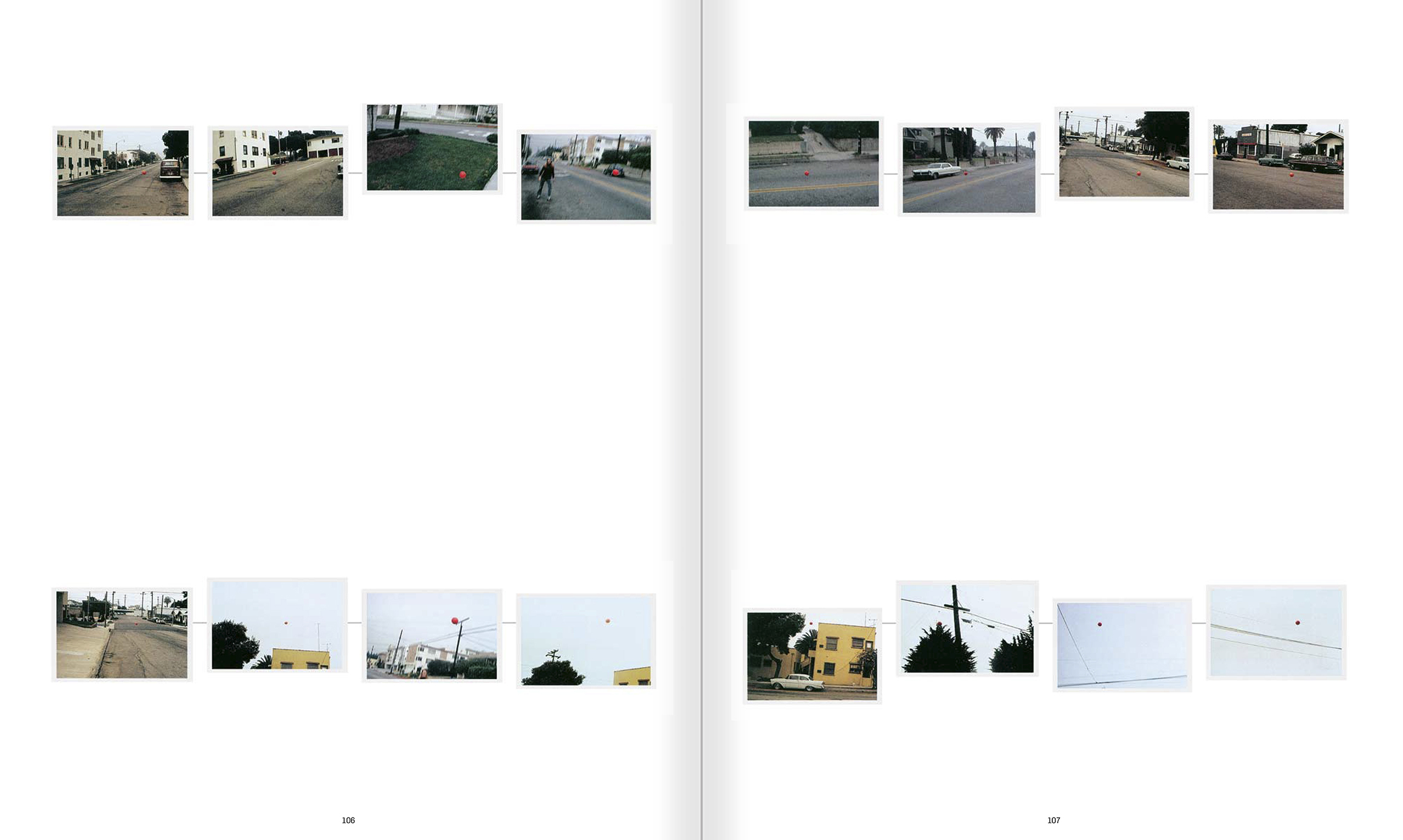 Selection from the catalogue 'John Baldessari. Pure Beauty', pages 106 and 107