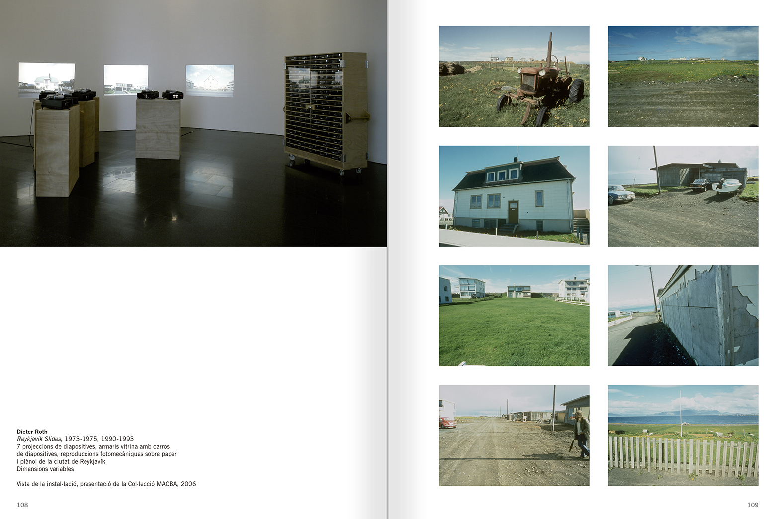 Selection from the catalogue 'Relational Objects. MACBA Collection 2002-07', pages 108 and 109