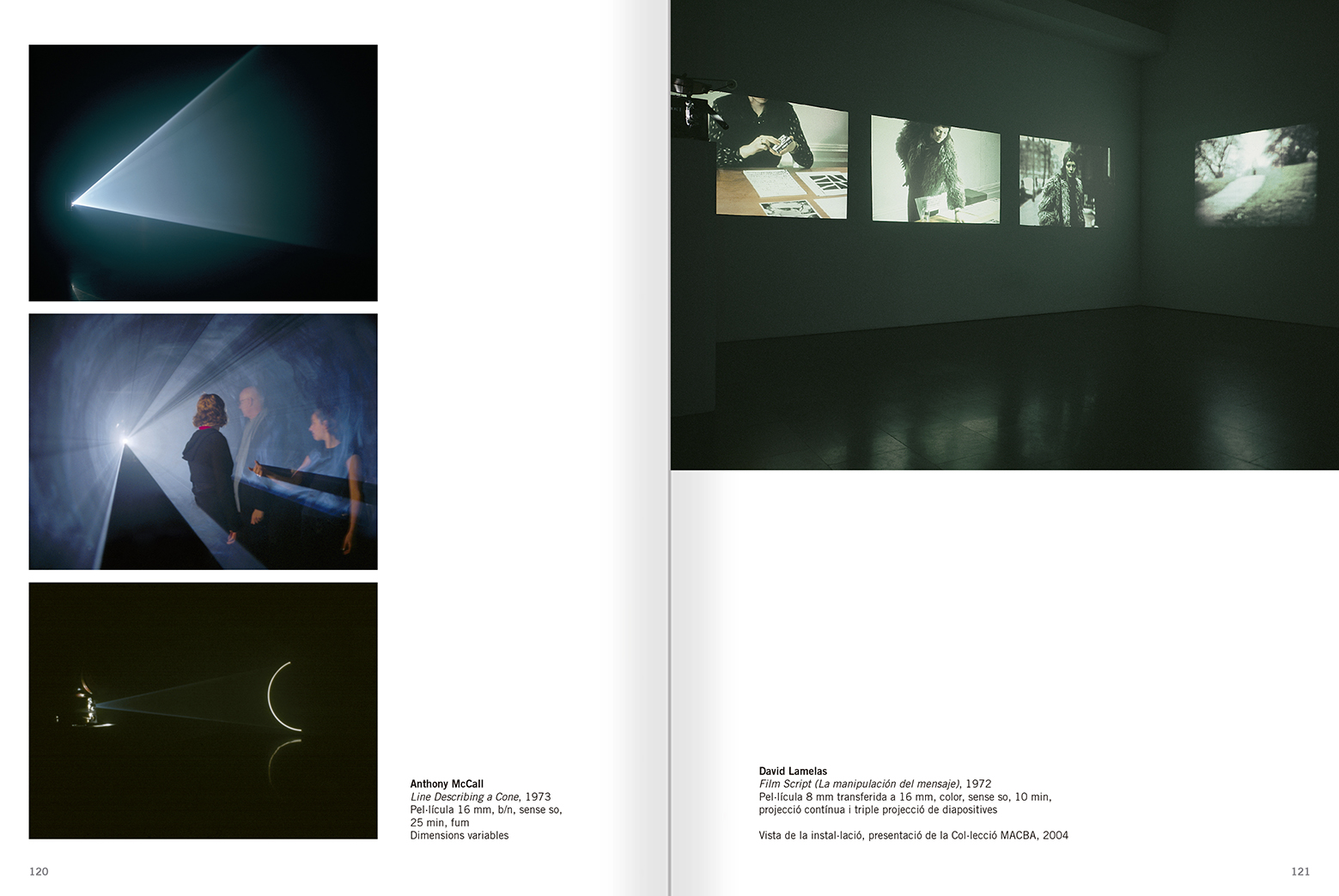 Selection from the catalogue 'Relational Objects. MACBA Collection 2002-07', pages 120 and 121