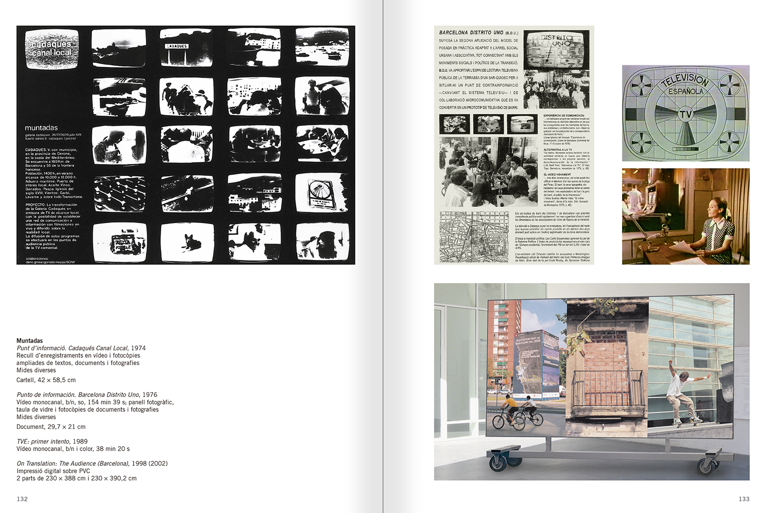 Selection from the catalogue 'Relational Objects. MACBA Collection 2002-07', pages 132 and 133