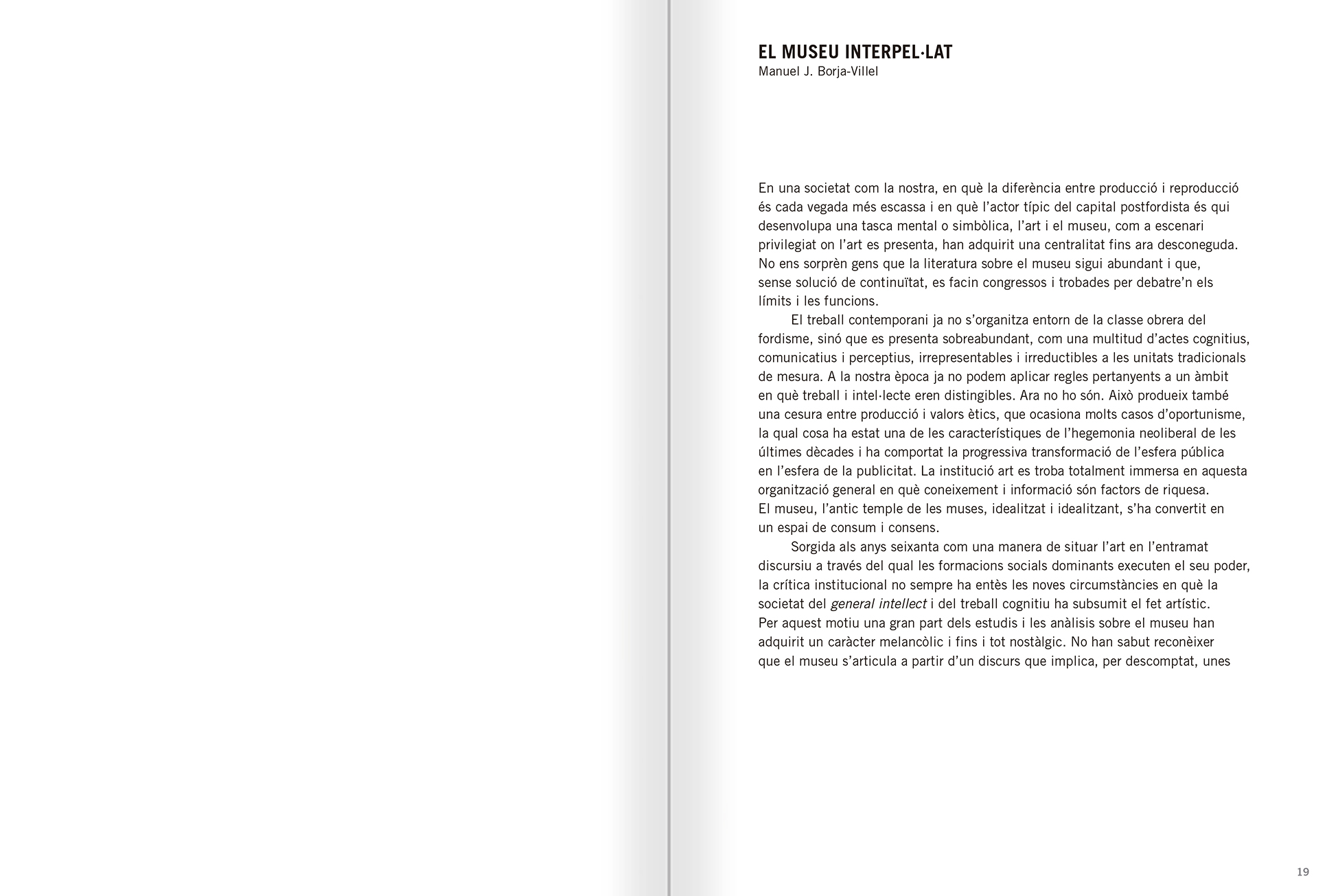 Selection from the catalogue 'Relational Objects. MACBA Collection 2002-07', pages 18 and 19