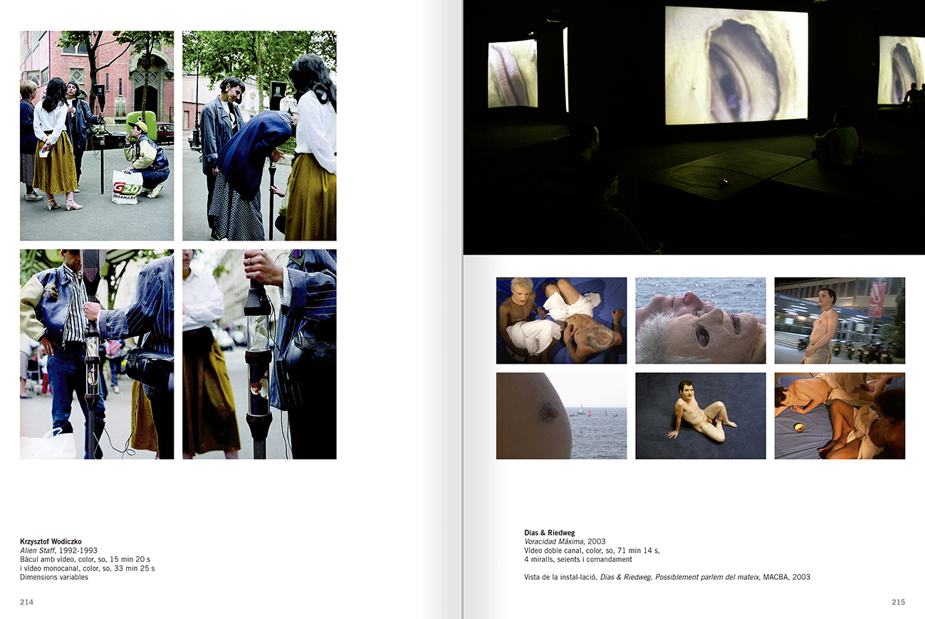 Selection from the catalogue 'Relational Objects. MACBA Collection 2002-07', pages 214 and 215