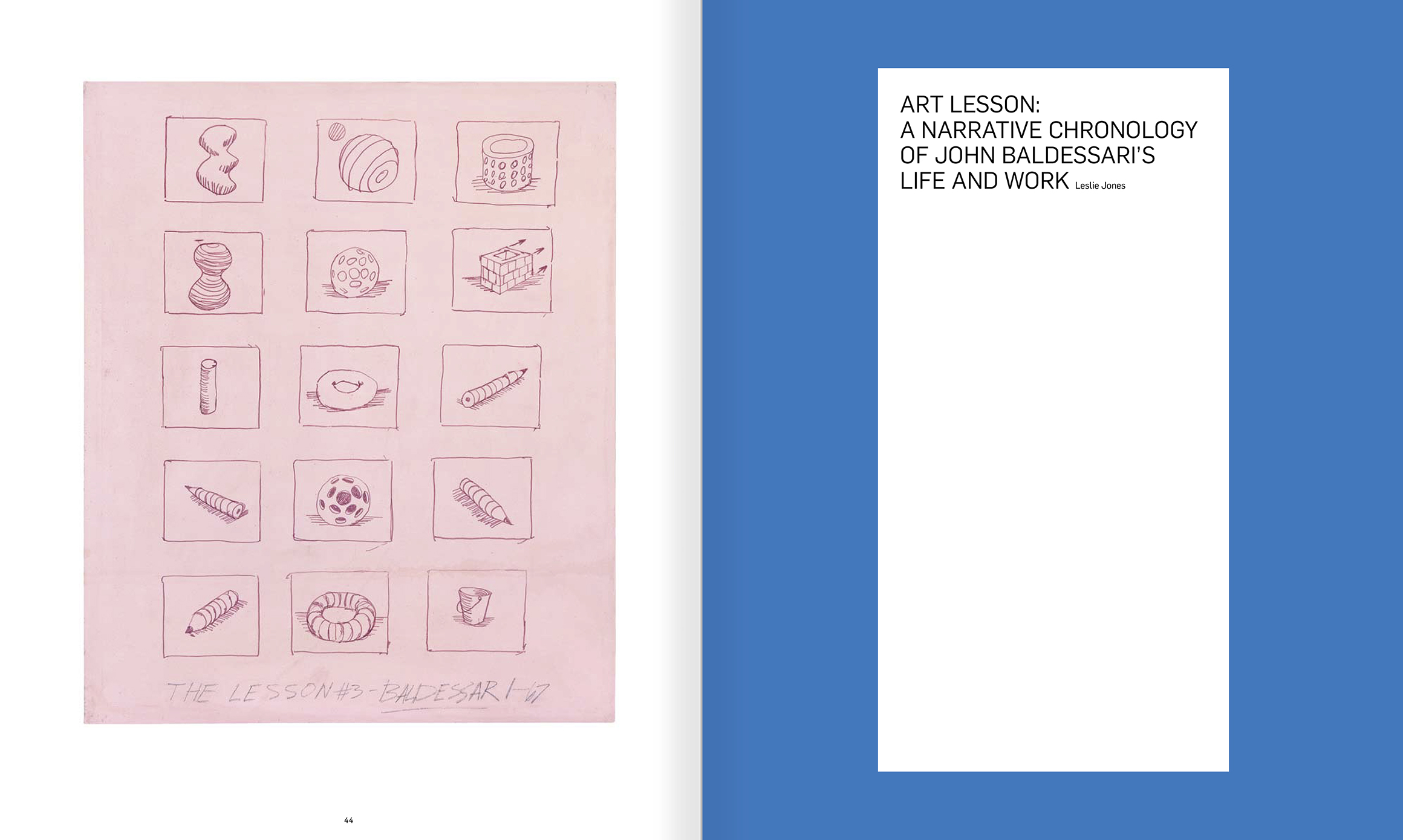 Selection from the catalogue 'John Baldessari. Pure Beauty', pages 44 and 45