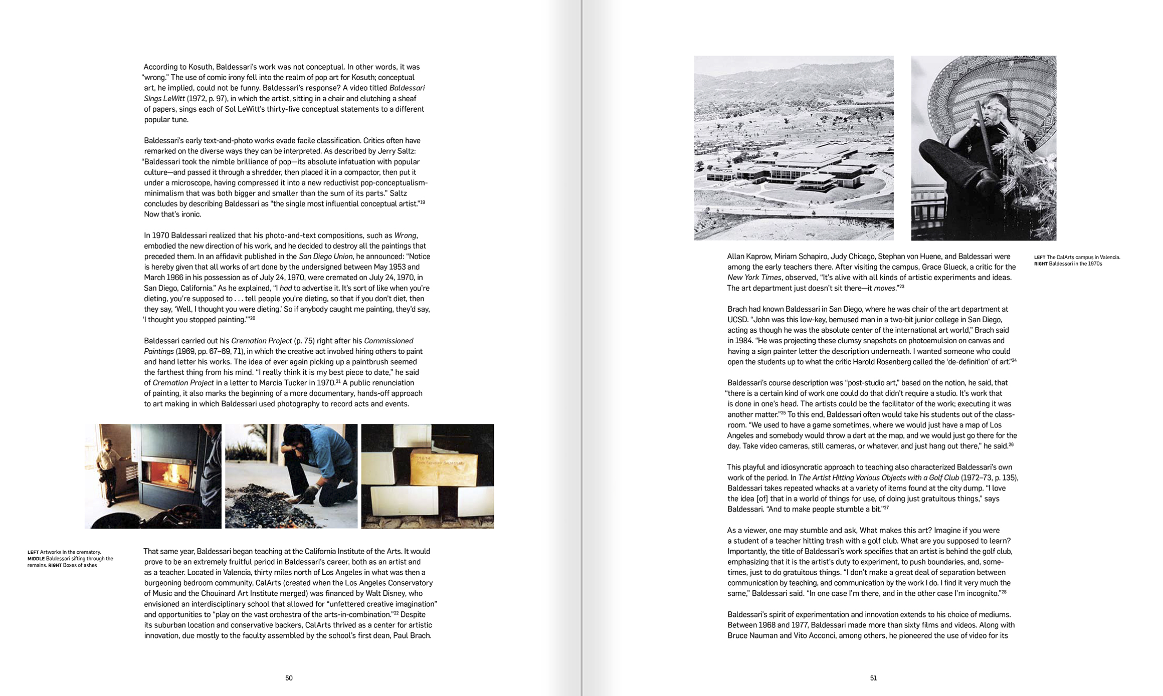Selection from the catalogue 'John Baldessari. Pure Beauty', pages 50 and 51