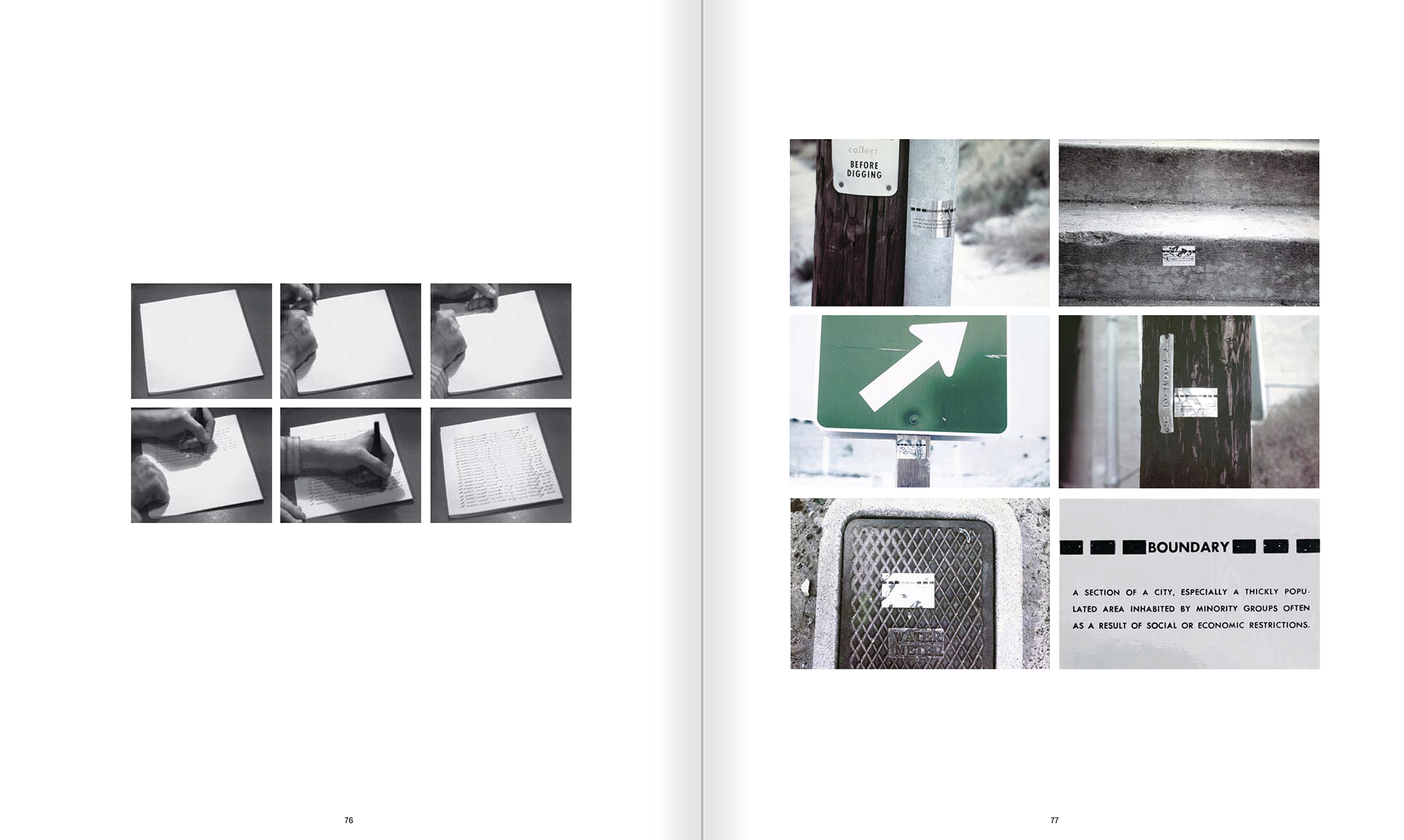 Selection from the catalogue 'John Baldessari. Pure Beauty', pages 76 and 77
