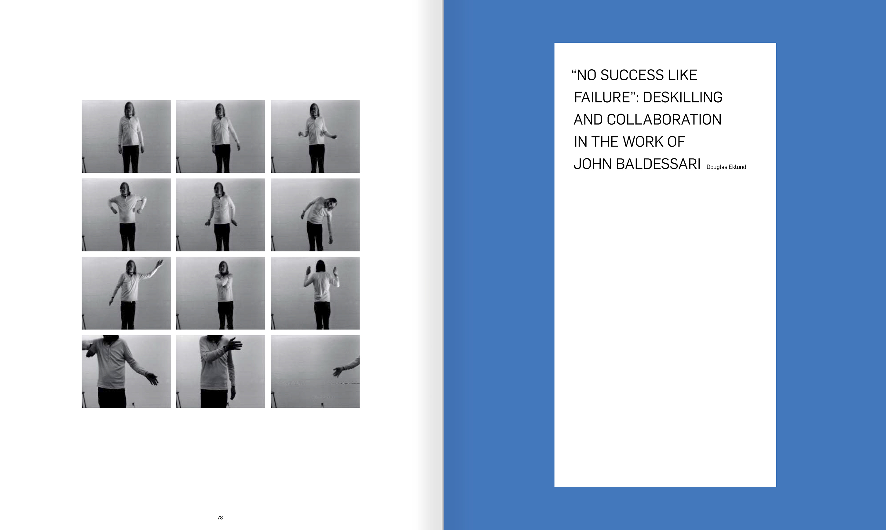 Selection from the catalogue 'John Baldessari. Pure Beauty', pages 78 and 79