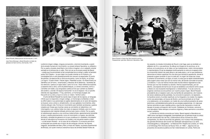 Selection from the catalogue 'Paralelo Benet Rossell', pages 192 and 193