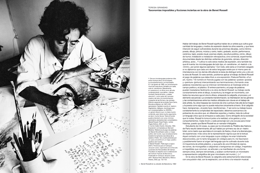 Selection from the catalogue 'Paralelo Benet Rossell', pages 46 and 47
