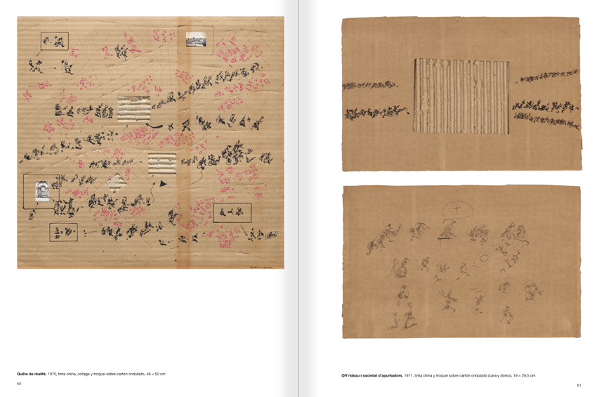 Selection from the catalogue 'Paralelo Benet Rossell', pages 60 and 61