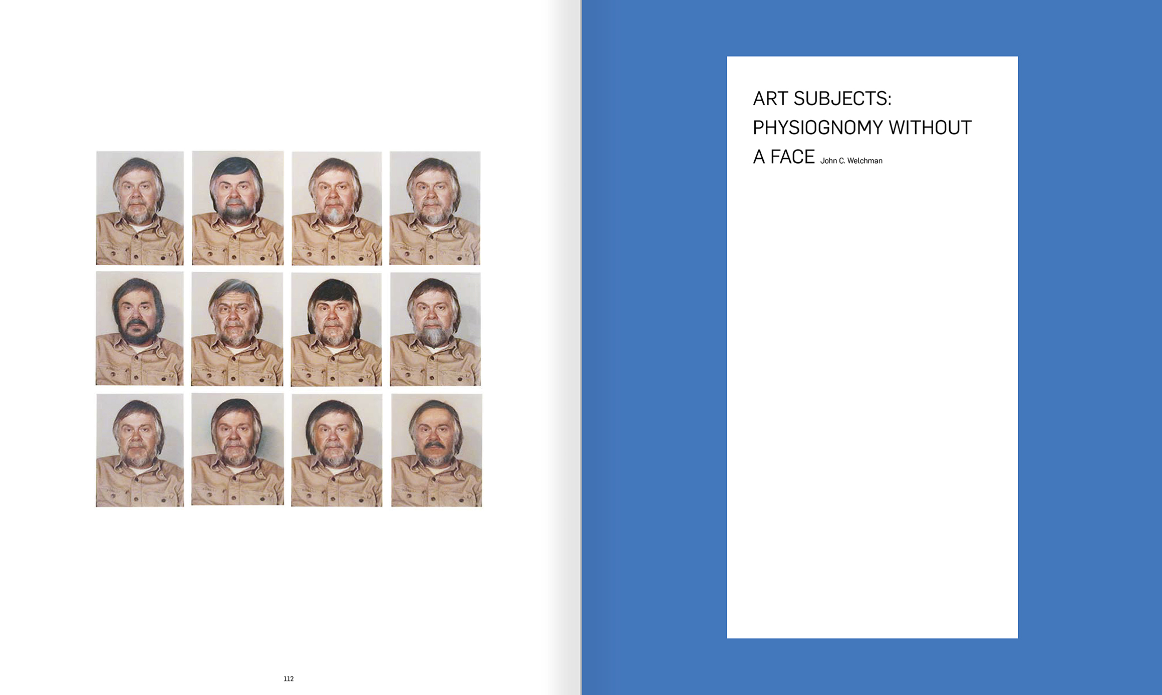 Selection from the catalogue 'John Baldessari. Pure Beauty', pages 112 and 113