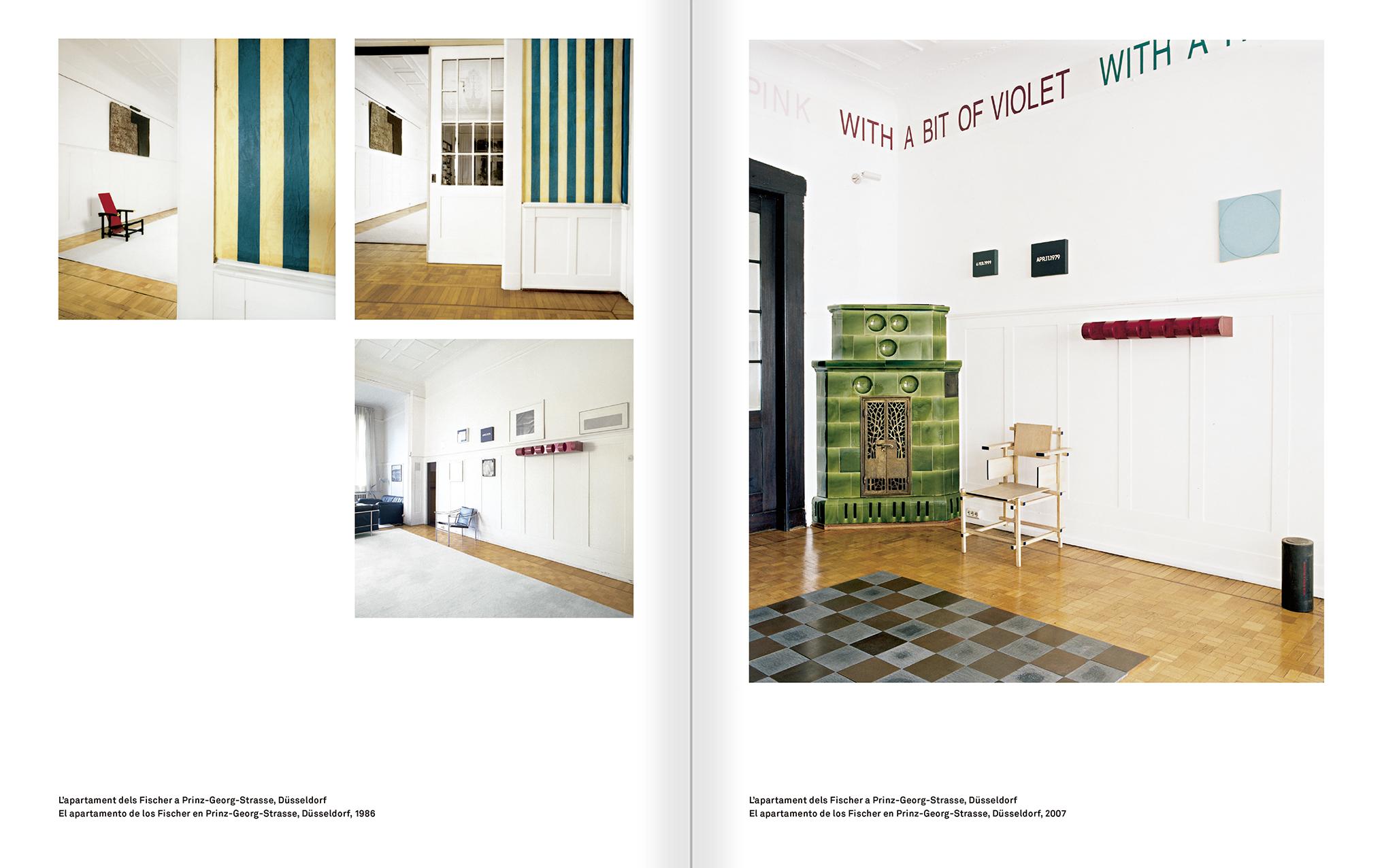 """Selecció del catàleg """"Amb la probabilitat de ser vist. Dorothee i Konrad Fischer: Arxius d'una actitud"""" pàgines 164 i 165"""