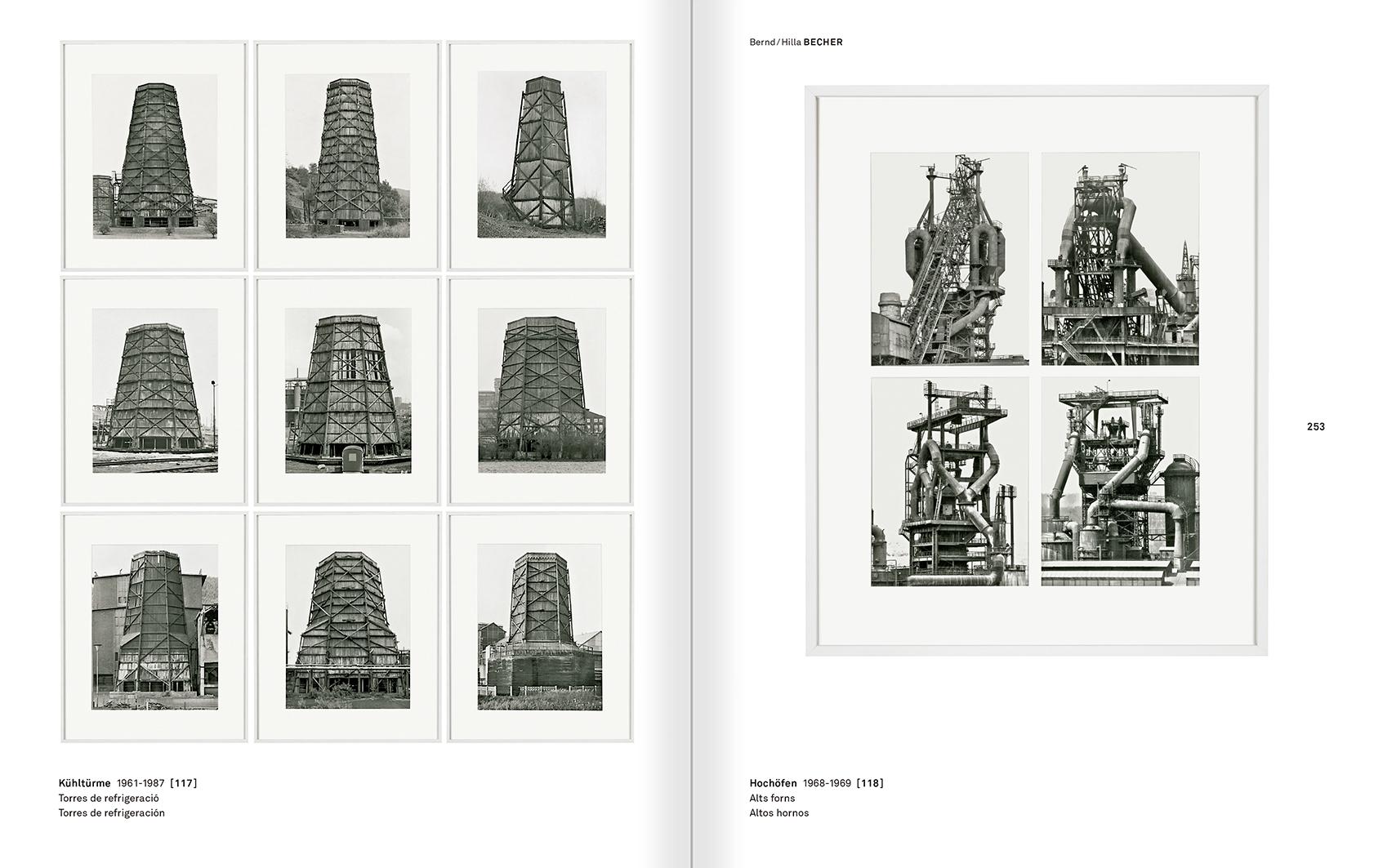 """Selecció del catàleg """"Amb la probabilitat de ser vist. Dorothee i Konrad Fischer: Arxius d'una actitud"""" pàgines 252 i 253"""