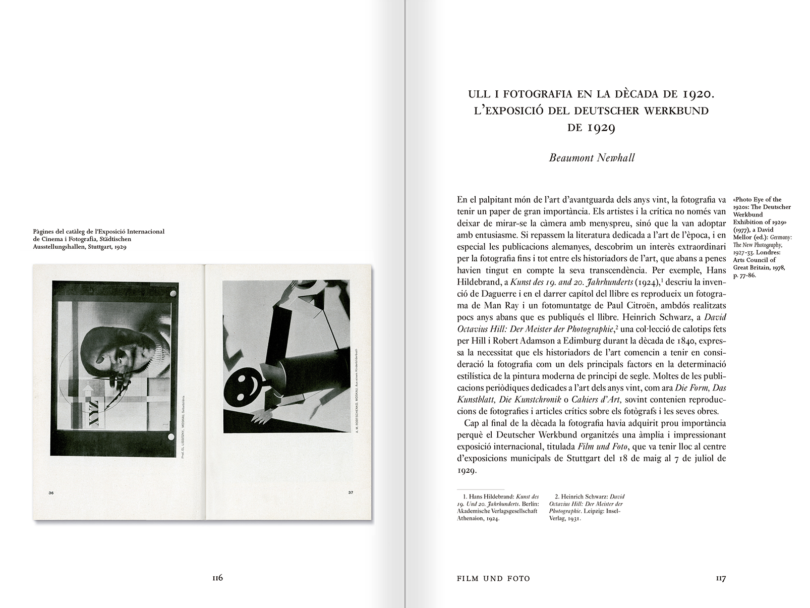 Selection from the catalogue 'Public Photographic Spaces. Propaganda Exhibitions from Pressa to The Family of Man, 1928-55', pages 114 and 115