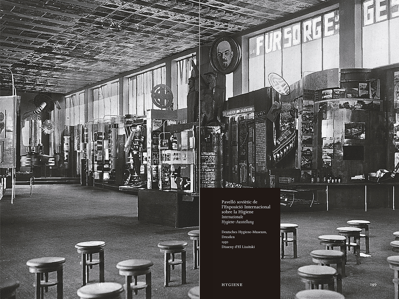 """Selección del catálogo """"Espacios fotográficos públicos. Exposiciones de propaganda, de Pressa a The Family of Man, 1928-1955"""" páginas 148 y 149"""