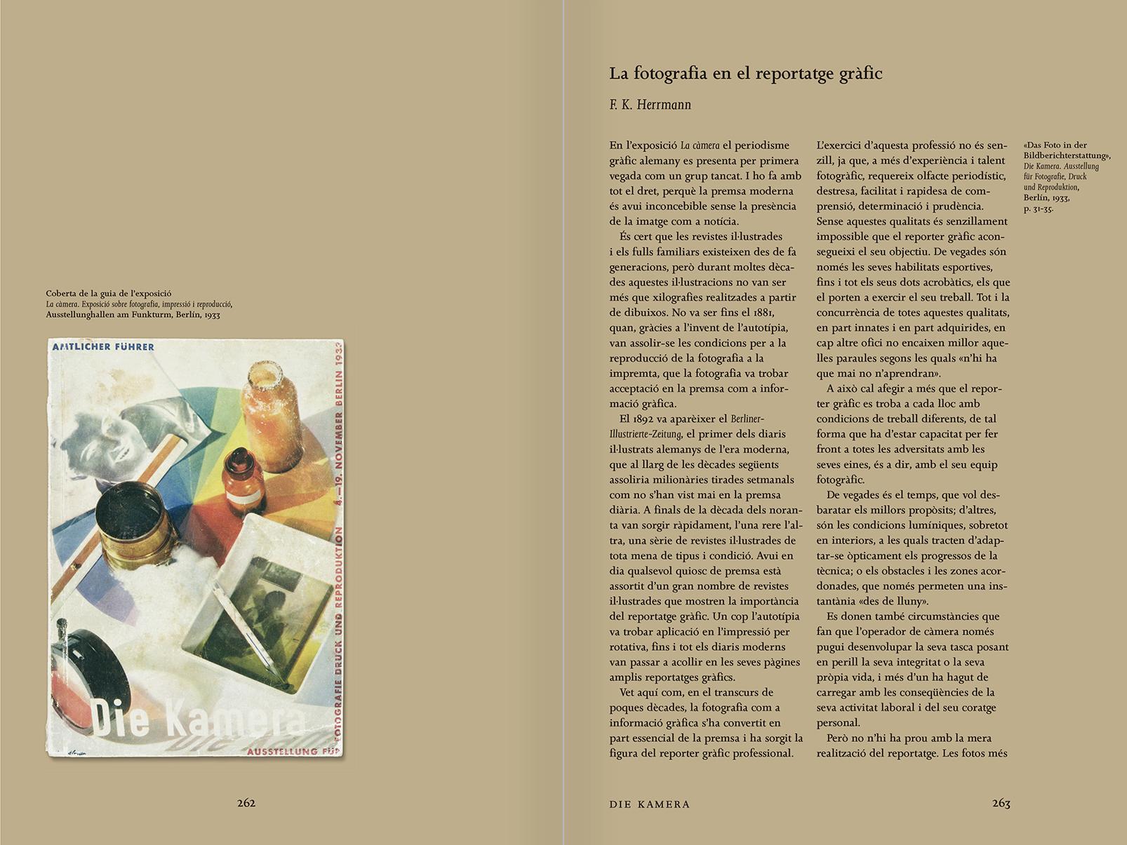 """Selección del catálogo """"Espacios fotográficos públicos. Exposiciones de propaganda, de Pressa a The Family of Man, 1928-1955"""" páginas 262 y 263"""