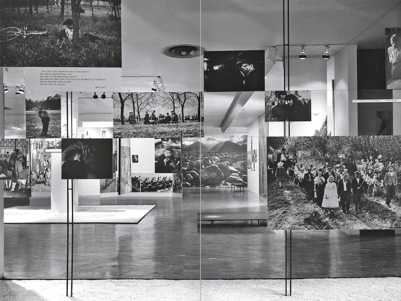 """Selección del catálogo """"Espacios fotográficos públicos. Exposiciones de propaganda, de Pressa a The Family of Man, 1928-1955"""" páginas 426 y 427"""