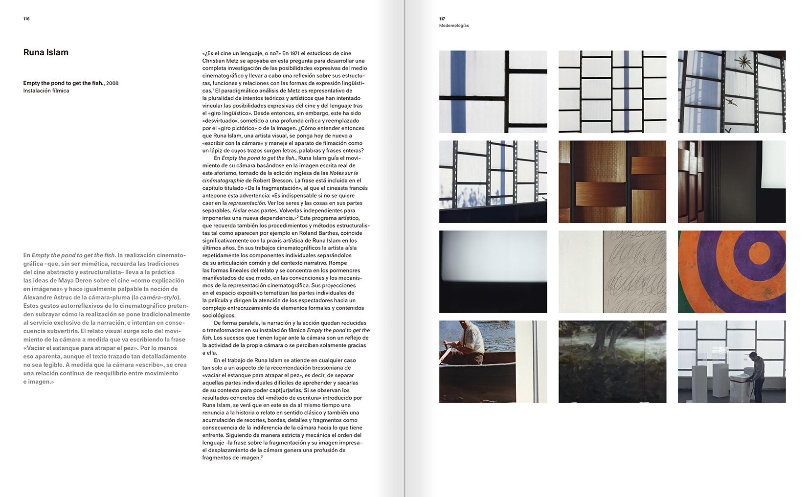 """Selección del catálogo """"Modernologías. Artistas contemporáneos investigan la modernidad y el modernismo"""" páginas 116 y 117"""