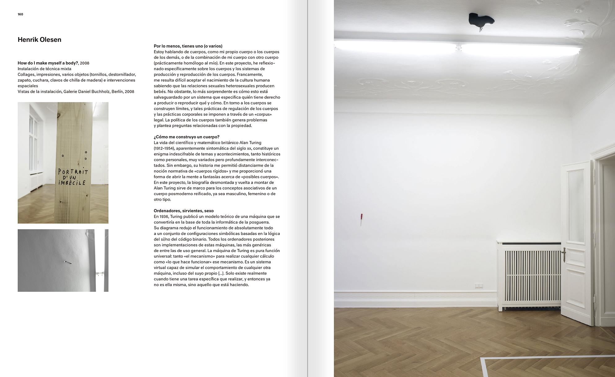 """Selección del catálogo """"Modernologías. Artistas contemporáneos investigan la modernidad y el modernismo"""" páginas 160 y 161"""