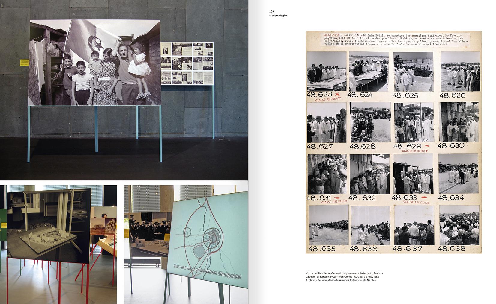 """Selección del catálogo """"Modernologías. Artistas contemporáneos investigan la modernidad y el modernismo"""" páginas 208 y 209"""